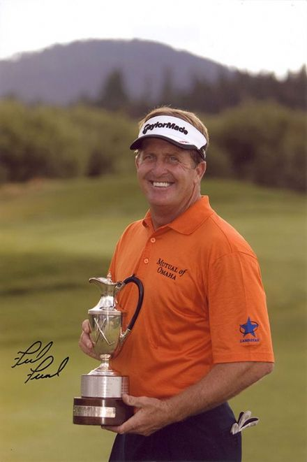 Fred Funk, American golfer, signed 12x8 inch photo.